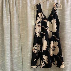Anthropology Black & Floral Dress